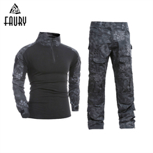 Men's Tactical Military Uniform Clothing Camouflage Combat Suit Clothes for Hunter and Fishing Shirt Pants Multicam  Navy Seal 1 6 the navy seal cqb combat tactical clothes set for 12 bodies