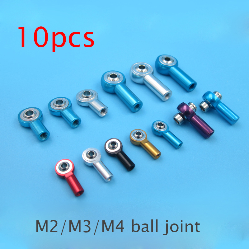 10 Pcs M2 M3 M4 Universal Ball Joint Steering Pull Rod CW/CCW Connecting Link Rod Ball Ends For DIY RC Car Model