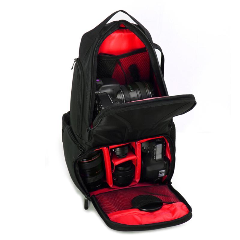 лучшая цена Camera Bag Photography DSLR Camera Shockproof Sling Shoulder Bag Outdoor Waterproof Carrying Backpack Digital Camera Handbag