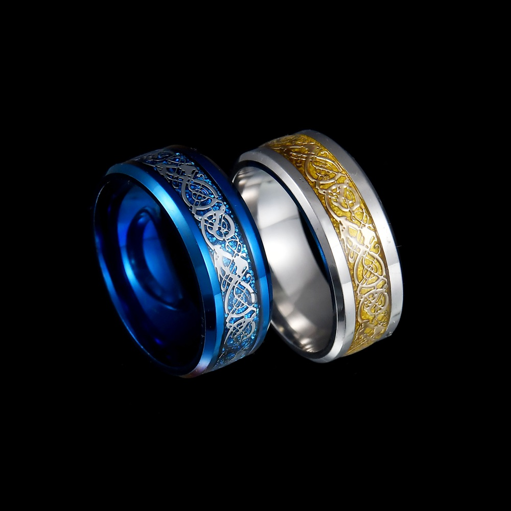 MeMolissa Jewelry New Punk ring for lover Vintage engagement Dragon steel Ring for Men & women Wedding rings 3