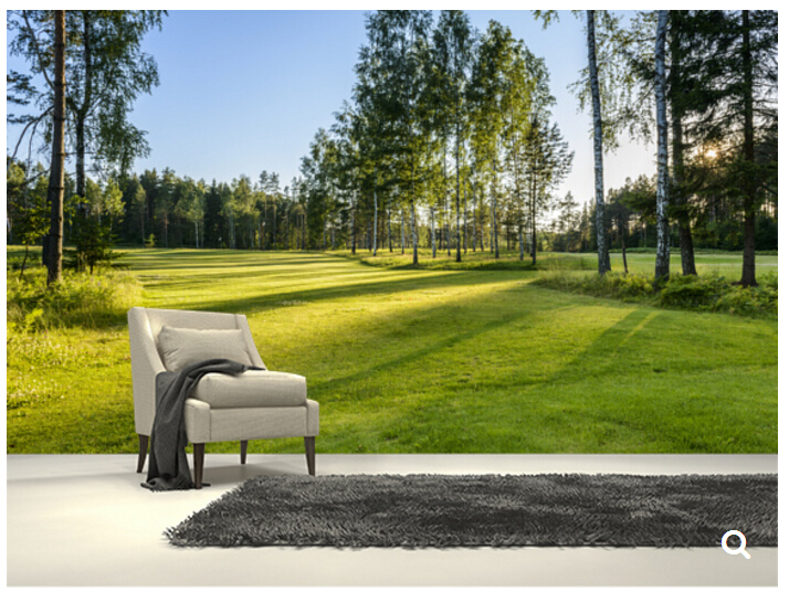 Custom natural scenery wallpaper,Golf Course,3D photo mural for the living room restaurant store background wall PVC wallpaper custom baby wallpaper snow white and the seven dwarfs bedroom for the children s room mural backdrop stereoscopic 3d