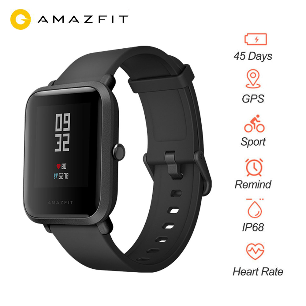 Huami Smart Watch Huami Amazfit Bip Youth Smart Watch Bluetooth 4 0 GPS Heart rate monitor