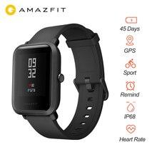 Умные часы Huami, умные часы Huami Amazfit Bip Youth, Bluetooth 4,0 gps монитор сердечного ритма 45 дней в режиме ожидания IP68 бесплатная доставка