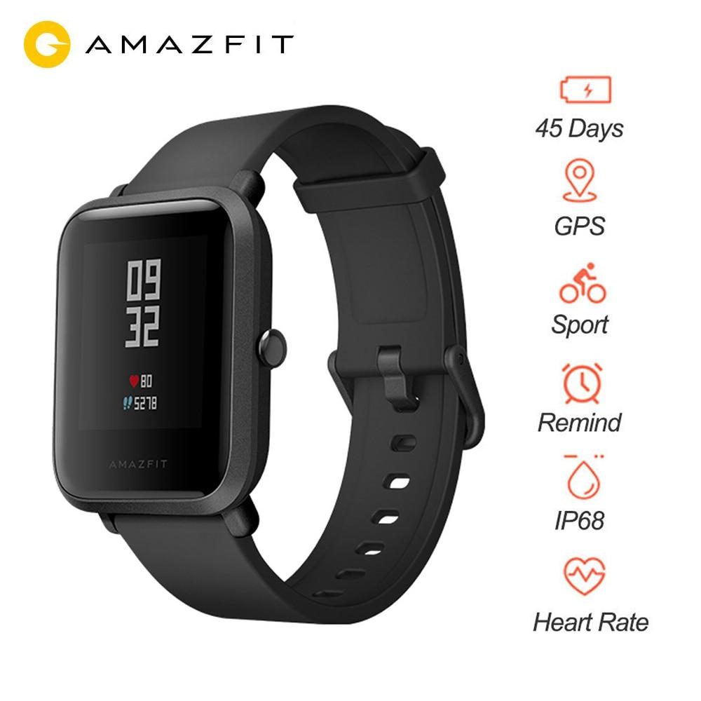 Huami montre intelligente, Huami Amazfit Bip montre intelligente jeunesse, Bluetooth 4.0 GPS moniteur de fréquence cardiaque 45 jours en veille IP68 livraison gratuite