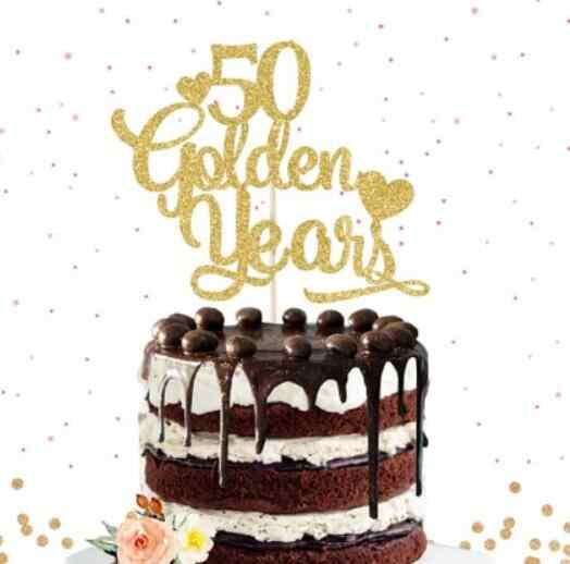 Phenomenal Customize Any Number 50Th Golden Years Anniversary Cake Topper Personalised Birthday Cards Cominlily Jamesorg