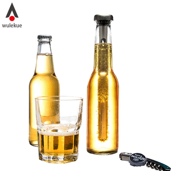 Wulekue Wine Wooler Chiller Cooling Ice Beverage Tube Stick Rod In-Bottle Beer Freeze Pourer