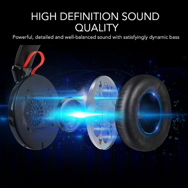 Oneodio A61 AptX Low Latency V4.2 Bluetooth Headphones Over Ear Deep Bass Wireless Headset For Gaming TV Computer Phone With Mic 2