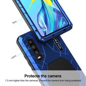 Image 3 - עבור Huawei P30 P30 פרו טלפון מקרה קשה אלומיניום מתכת מזג זכוכית מסך מגן כיסוי עבור Huawei P30 Lite מלא כיסוי