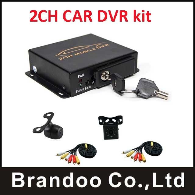 2ch mdvr taxi DVR digital video recorder kit with 2pcs mini camera
