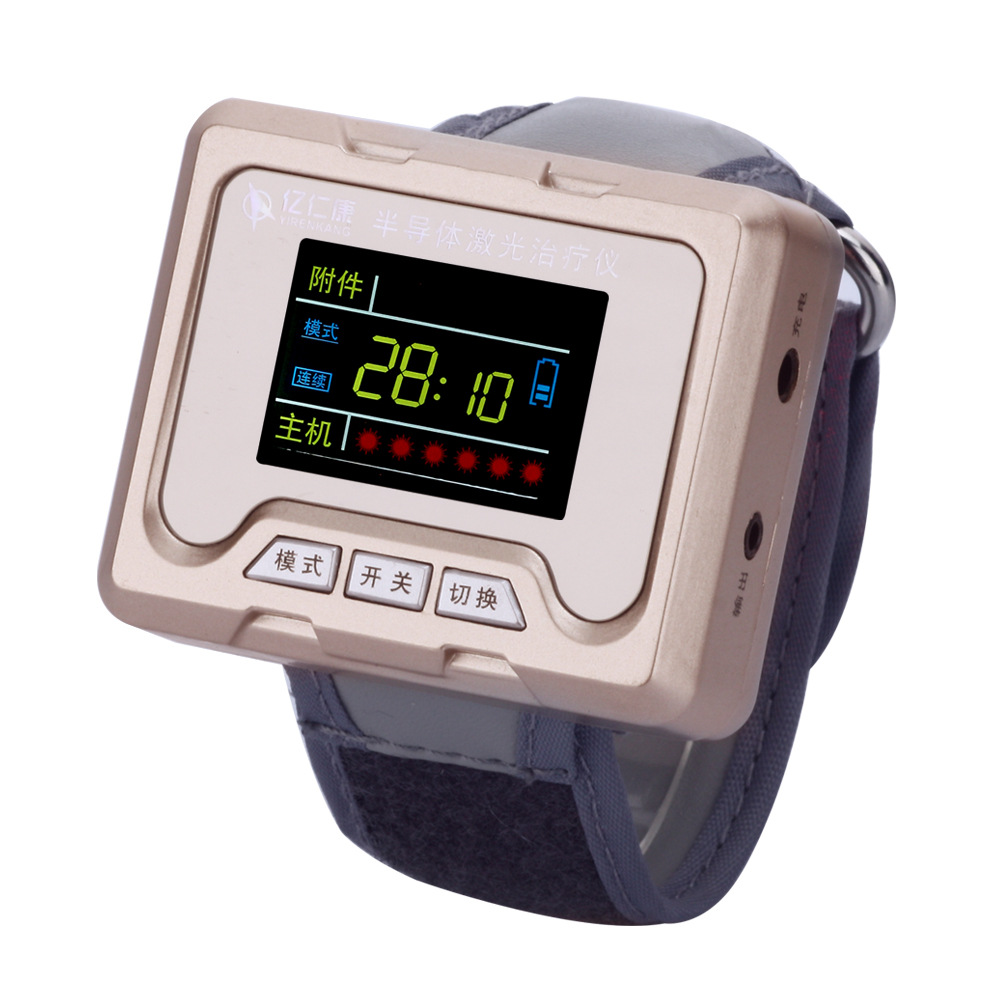 Laser Therapy Home wrist type laser watch Low frequency high blood pressure high blood fat high blood sugar diabetes therapy blood pressure regulator laser acupuncture laser wrist watch laser treatment therapeutic instrument