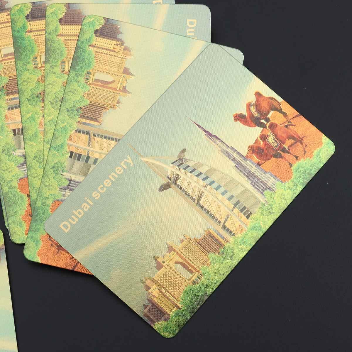 Позолоченные игральные карты из фольги покрытые Дубаи пейзажи покер настольные игры Джокер колода (золото)