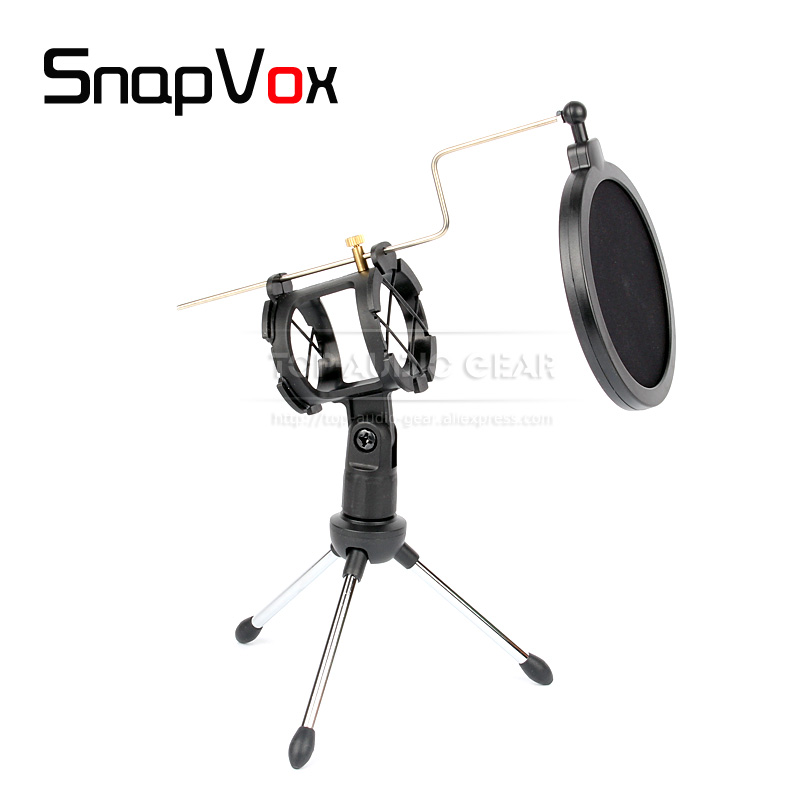 Unterhaltungselektronik Zielsetzung Desktop Mikrofonständer Shock Mount Pop Filter Clip Halter Pop Filter Mic Stand Für Shure Beta 58a 57a Beta58a Handheld Mike Exquisite Traditionelle Stickkunst Heimelektronik Zubehör