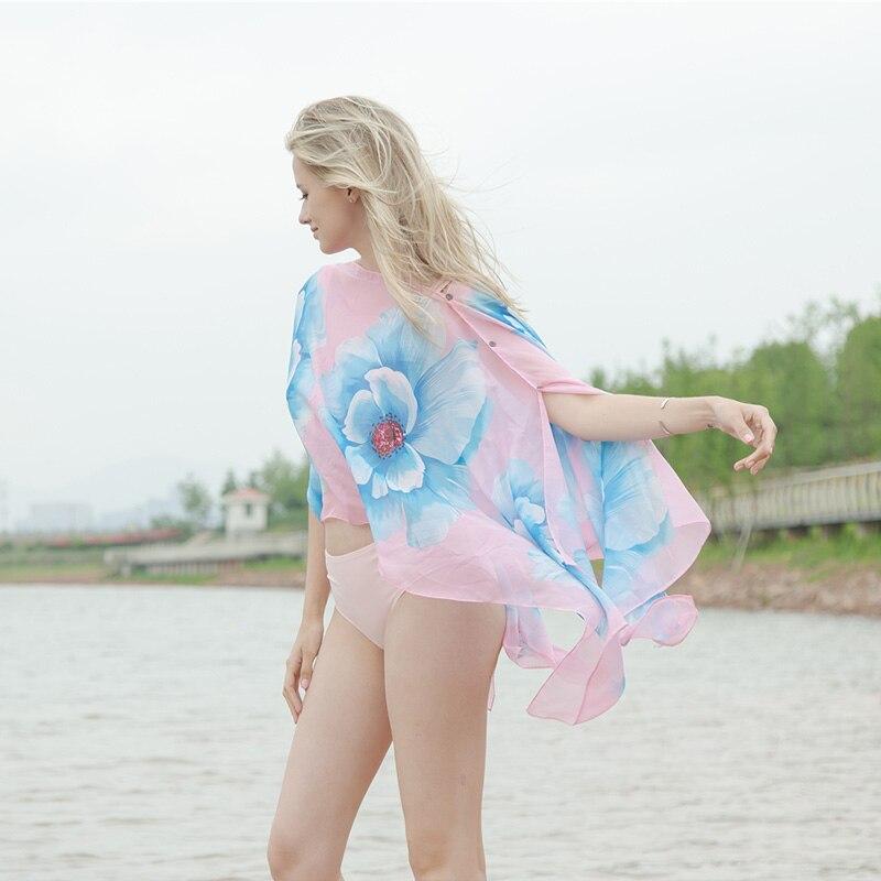 Reisen Outdoor Urlaub Frauen Sonnencreme Schal Strandtuch Mehrzweck - Bekleidungszubehör - Foto 3