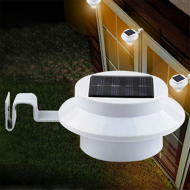 Sensor Solar Lamp 3 Led Waterproof Outdoor Luminaria Energy Saving Wall Lamp Led Solar Light Lantern Security Garden Decoration
