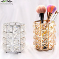 Kerze/Stift Halter Make Up Pinsel Lagerung Box Blume Vase Kosmetische Lagerung Rohr Kristall Unterschrift Leuchter Leuchter GZT053-in Kerzenhalter aus Heim und Garten bei