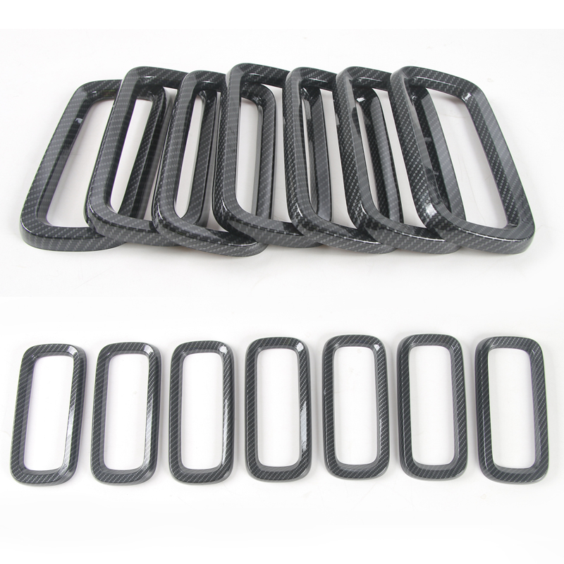 7Pcs Chrome Front Grille Vent Trim Ring Cover Grille Vent Trim Ring Insert Cover For Jeep Renegade 2015-2016 abs chrome front grille around trim for ford s max smax 2007 2010 2011 2012