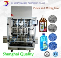 5L Glass Cleaner Automatic Filling Machine 4 Nozzle 316L Detergent Foamy Product Filling Machine Diving And