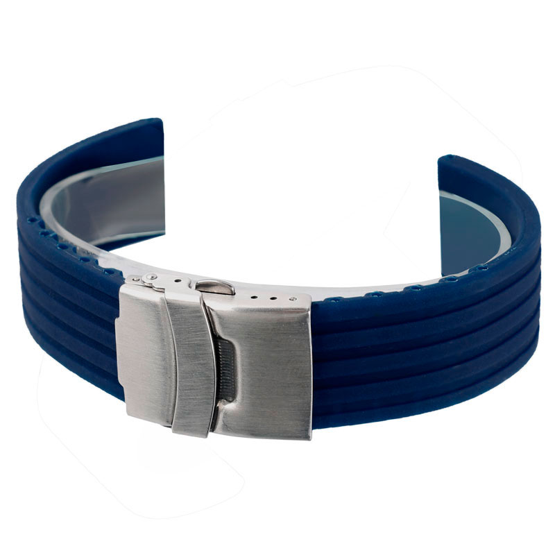 Best Replacement Silicone Blue Watch Band 20/22/24mm Rubber Waterproof Soft Bracelet Outdoor Diving Casual Watchband best band шорты для мальчика be350129 коричневый best band