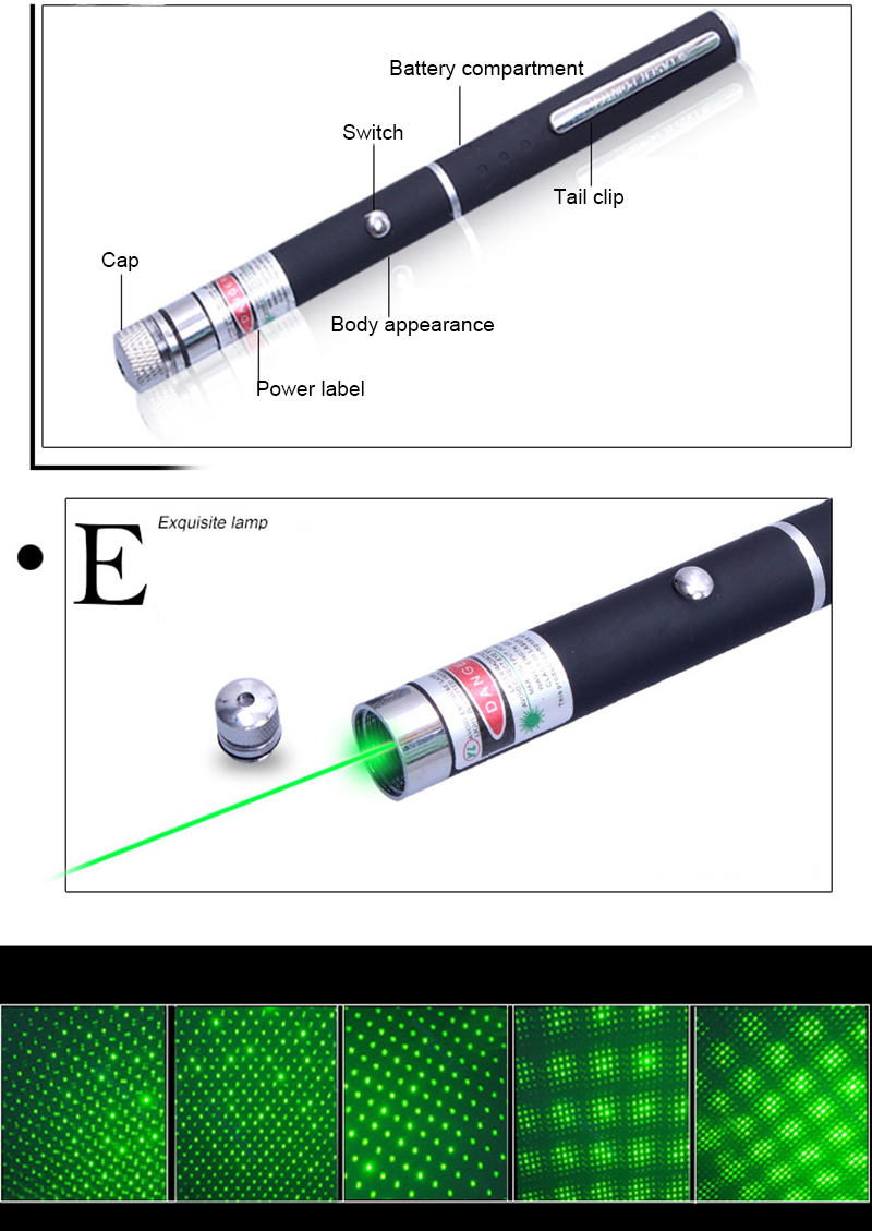 LED High Power Hunting laser Sight device 532nm 50mW Green Laser Pen Powerful Laser Pointer Professional Lazer pointer4
