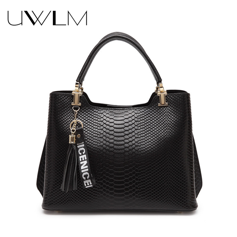 Women Leather Handbags Crocodile Embossed Genuine Cow Leather Handbag for Women Messenger 2018 Shouder Hobos Totes High Quality fashionable women casual high quality crocodile embossed genuine leather small mini messenger bag