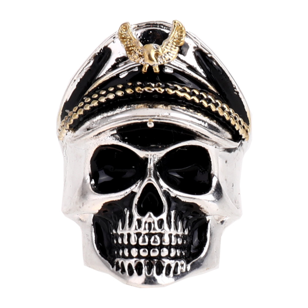 2018 Hot Sale Mens Rings Punk Rock Vintage Adjustable Size Skull Ring Men Jewelry Drop Shipping In Stock