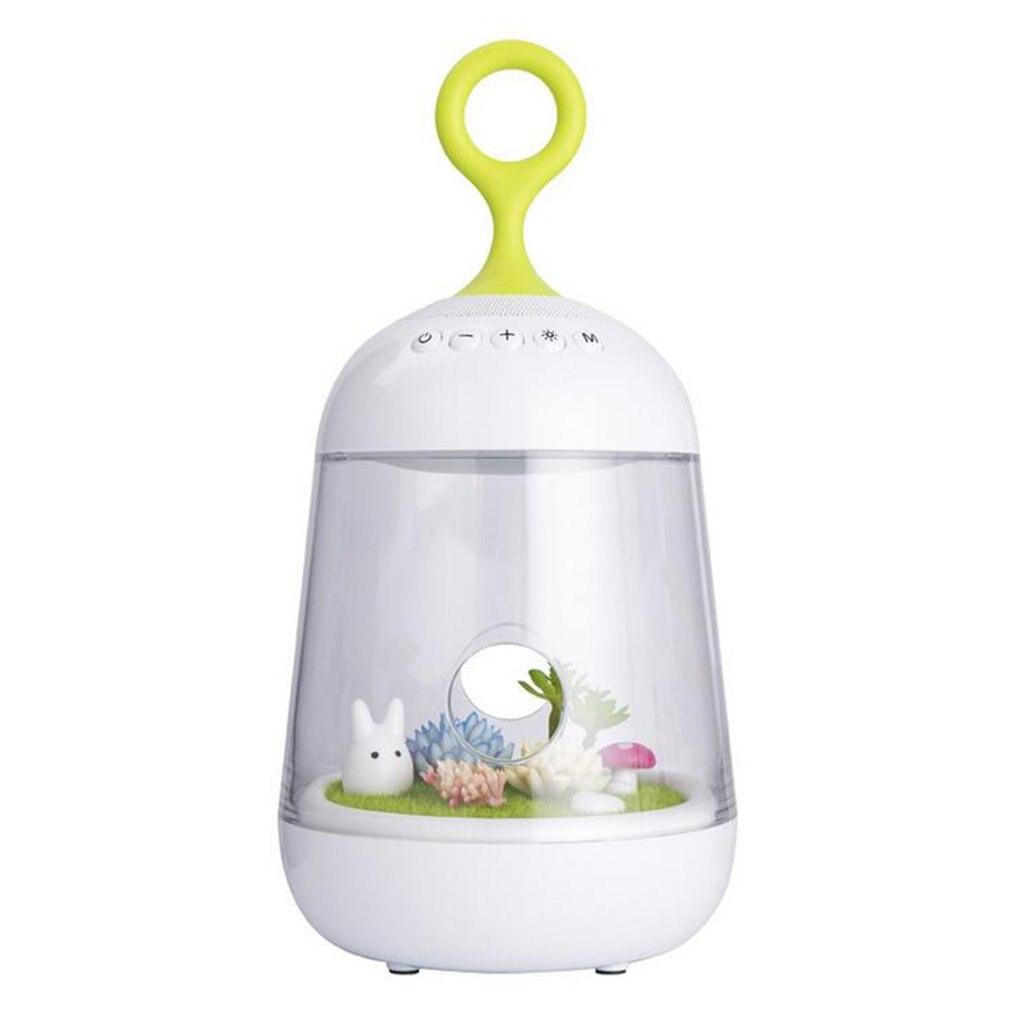 Microlandscape Plants Design Wireless Bluetooth Speaker Bright LED Lamp Night Reading Light Eye Protective Lamp