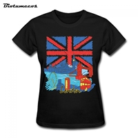 Women T Shirts Fashion Short Sleeve London cityscape Printed T-shirt harajuku Top Tees Plus Size Camiseta mujer WTQ114