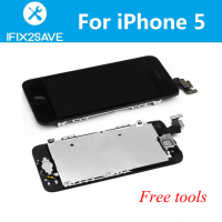 LCD For IPhone 5 LCD Display Touch Screen Digitizer Replacement W Small Part Camera Frame