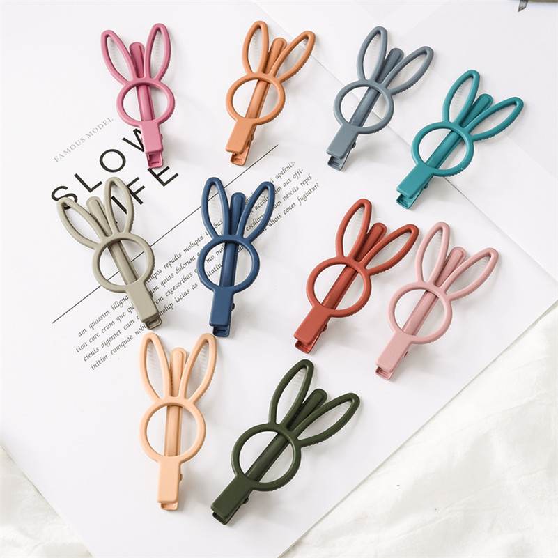 New Cute Rabbit Hair Accessories For Girls Women Boutique Candy Color Hairclip Barrettes Korean Lovely Princess Hair Decoration