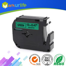 1 stks/partij 12mm * 8 m M-K731 Compatibel Brother M Tapes Label cartridge M-K731 MK731 Mk 731 voor Brother P aanraking printer PT100 PT65(China)
