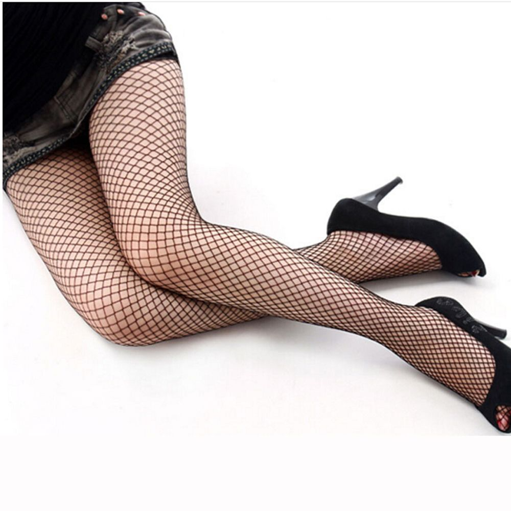Womens Sexy Black Fishnet Stockings Hollow Out Mesh Net -8135