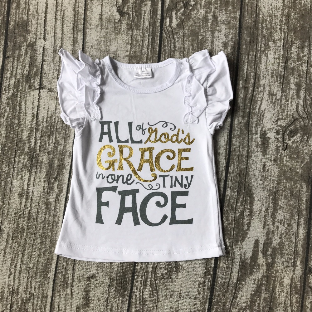 summer baby girls clothes short sleeveall kid's grace in one tiny face icing ruffles top shirts raglans cotton boutique clothes монитор lenovo tiny in one 24