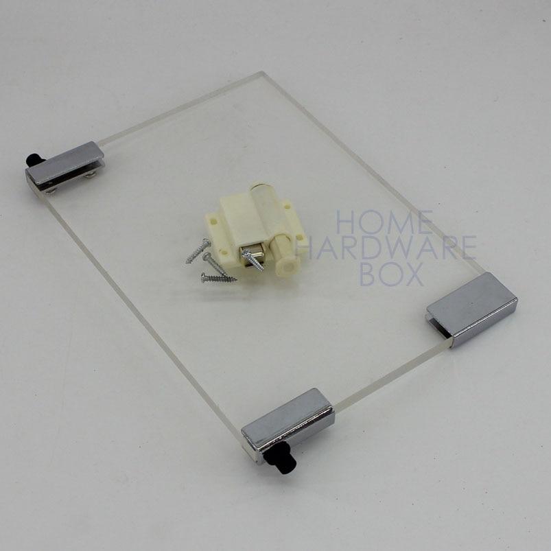 Pivot Hinge Magnet Door Catch Swing Glass Clamp Bracket