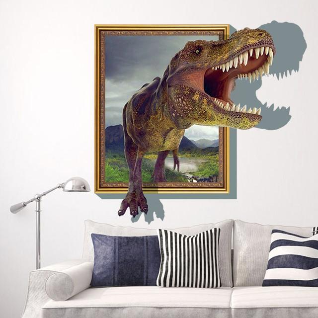 3d dinosaurus muurstickers kinderkamer slaapkamer woonkamer achtergrond versierd verwijderbare waterdichte muur oo 037