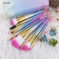 Docolor 10pcs Set Professional Makeup Brush Set Make Up Contouring Brushes Tool Large Fan Brush Blush