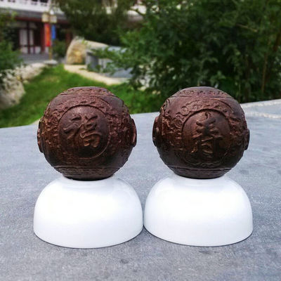 Solid walnut wood  fitness ball handball massage ball  finger exercise 1pair