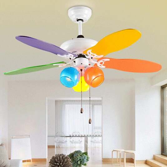 Lovely Kids Ceiling Fan Colours Modern For