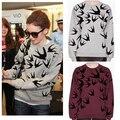 Sudaderas mujer 2015 футболка женщин осень печатные длинный рукав толстовки пуловеры повседневная женская пот femme ропа deportiva mujer