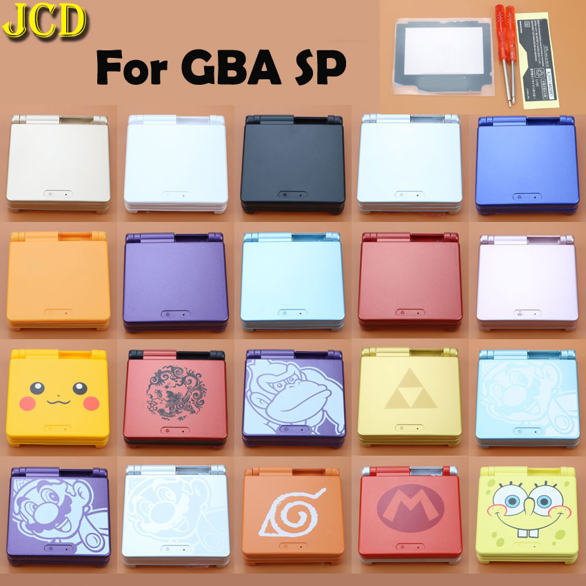 JCD For GBA SP Game Console Cover Case Cartoon Limited Edition Full Housing Shell For Nintend Gameboy Advance SP