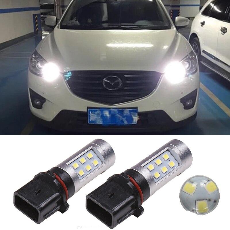 2 шт. P13W PSX26W лампы автомобиля Светодиодный Противотуманные лампы дневного света светильник для Mazda CX-5 CX5 CX 5 2013 2014 2015 2016 2017 2018