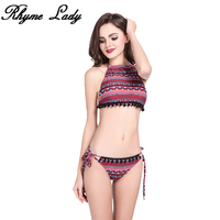 Rhyme Lady sex swimsuit Women Push Up Swimwear brazilian Halter bikini set plus size female Beach Bathing Suit Swim biquini