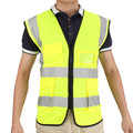 Hot Sale New Arrival Durable Quality Multicolor Hi-Vis Safety Vest Reflective Jacket 5 Pockets Security Waistcoat Cost-effective