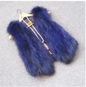 Жилет из натурального меха енота, женский жилет из лисьего меха, короткий дизайн, повседневное пальто из натурального меха, меховая верхняя одежда градиентного цвета - Цвет: 3