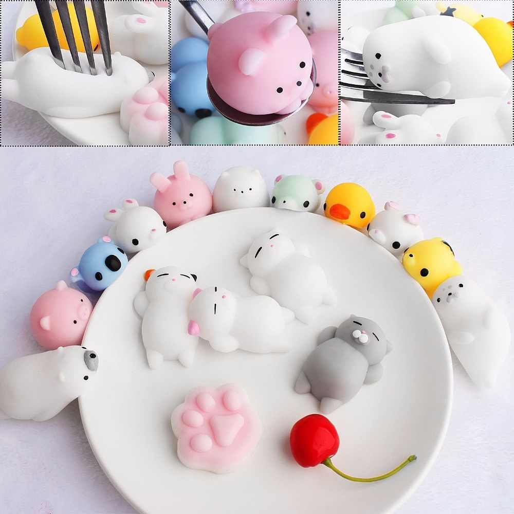 Антистрессовые мягкие игрушки Мини-Мягкие силиконовые мягкие игрушки для кошек и животных, сжимаемые вручную резиновые милые мягкие игрушки
