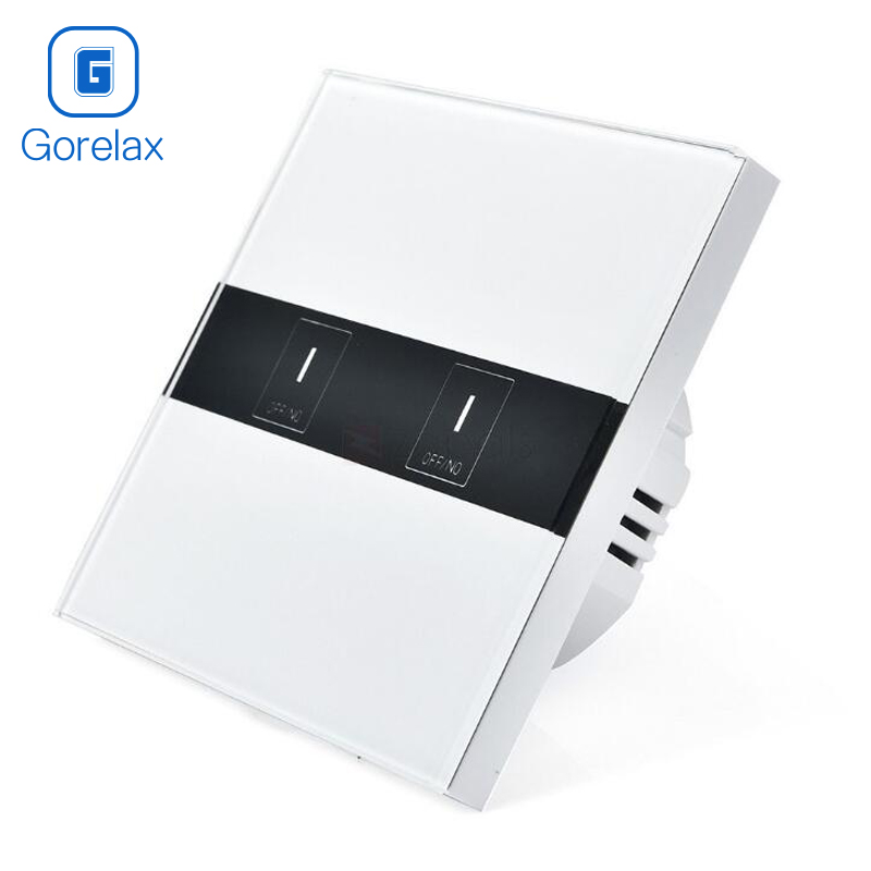 Gorelax Smart Home Wifi Switch, Wireless Remote Control Light Touch Wall Switches With Crystal Glass Panel, 2gang EU Standard 2017 free shipping smart wall switch crystal glass panel switch us 2 gang remote control touch switch wall light switch for led