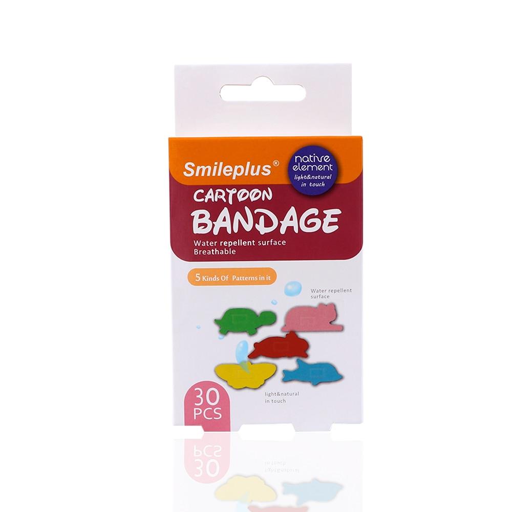 High Quality 30 Pcs/pack Waterproof Cute Cartoon Animal Shape Children Bandage Wound Emergency Anti-Bacterial Band-Aids