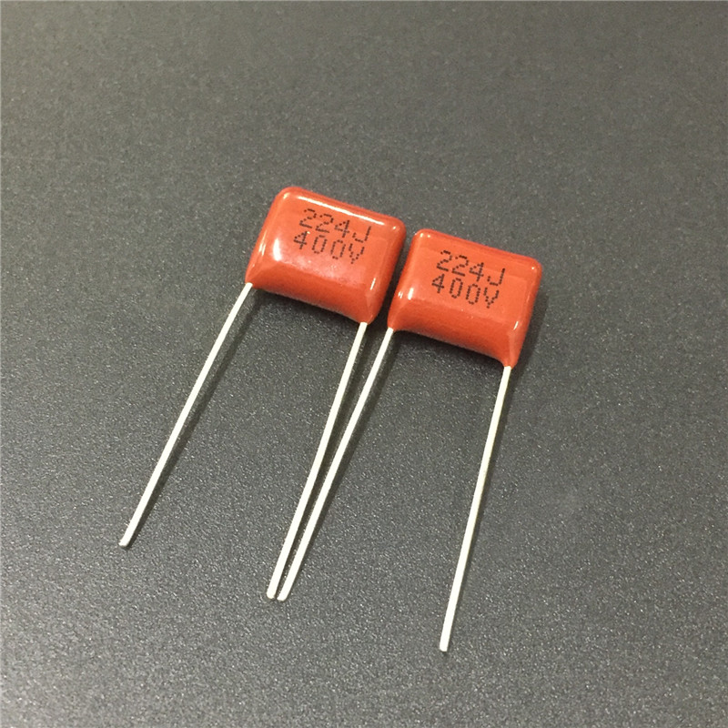 10pcs CBB Capacitor 224 400V 224J 0.22uF 220nF P10 CL21 Metallized Polypropylene Film Capacitor