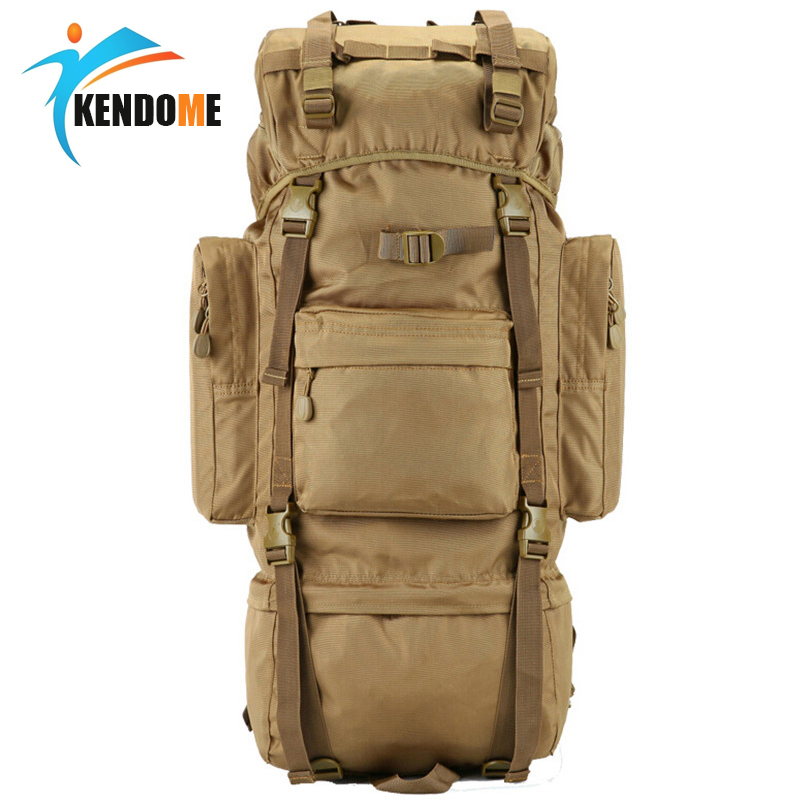 Hot 70L Big Capacity Outdoor Sports Bag Military Tactical Backpack Hiking Camping Waterproof Wear resisting Nylon