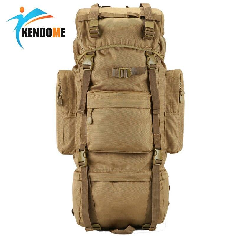 Caliente 70L gran capacidad al aire libre bolso militar mochila táctica Camping senderismo impermeable resistente al desgaste Nylon mochila