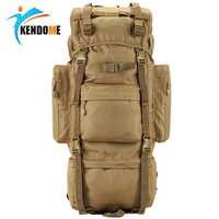 Hot 70L gran capacidad al aire libre bolsa de deportes mochila táctica militar senderismo Camping resistente al agua ropa de Nylon mochila
